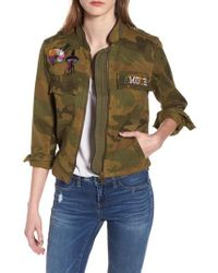 Zadig & Voltaire - Kavys Embroidered Camo Jacket - Lyst