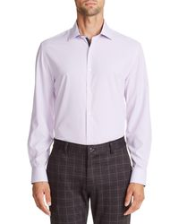 W.r.k. Chevron Performance Dress Shirt - Purple