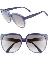 Céline - 62mm Special Fit OverShiny Navy/ Brown Gradient - Lyst