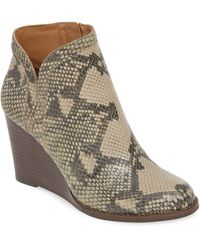 Lucky Brand Yimina Wedge Bootie - Brown