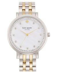 Kate Spade | 'monterey' Crystal Dial Bracelet Watch | Lyst