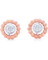 Kwiat - Beaded Diamond Stud Earrings - Lyst