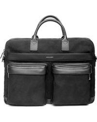 Hook + Albert Canvas Laptop Briefcase - Black