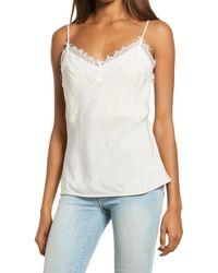 AG Jeans Scarlet Eyelash Lace Camisole - White