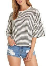 Billabong - Today's Crush Stripe Ruffle Sleeve Tee - Lyst