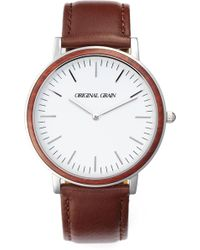 Original Grain - Minimalist Leather Strap Watch - Lyst