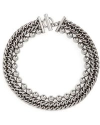 Alexander Wang - Ball & Chain Stacked Necklace - Lyst