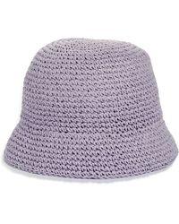 Kate Spade Metallic Crochet Bucket Hat - Purple