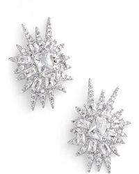 CZ by Kenneth Jay Lane - 'explosion' Cubic Zirconia Stud Earrings - Lyst