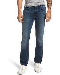 Fidelity Jimmy Slim Straight Leg Jeans - Blue