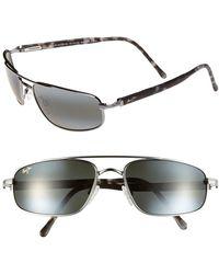 Maui Jim Kahuna Polarizedplus2 59mm Aviator Sunglasses - Gunmetal - Metallic