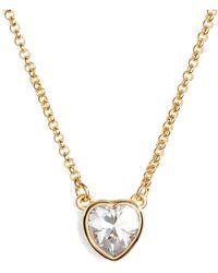 Kate Spade - Romantic Rocks Mini Pendant Necklace - Lyst