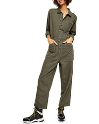Free People Gia Coverall - Green