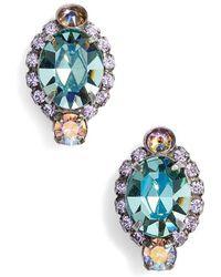 Sorrelli - Adenium Crystal Earrings - Lyst