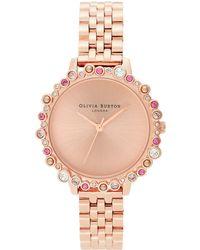Olivia Burton Bejewelled Under The Sea Bubble Bracelet Watch - Multicolour