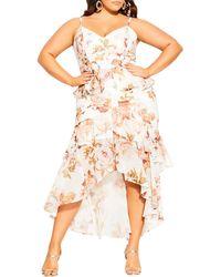 City Chic Rose Bella Maxi Wrap Dress - Multicolor