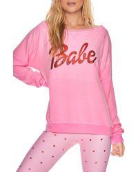 Beach Riot Babe Sweatshirt - Pink