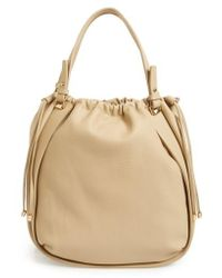 Sondra Roberts - Faux Leather Drawstring Tote - Lyst