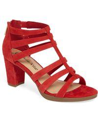 Bella Vita Leah Sandal - Red