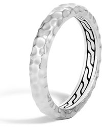 John Hardy - Hammered 3.5mm Band Ring - Lyst
