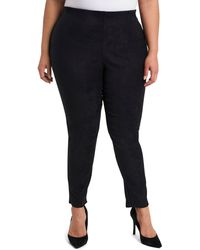 Vince Camuto Stretch Suede Ankle Pants - Black