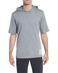 2be2279f Lyst - Nike Men's Dri-blend Hooded Long Sleeve T-shirt in Blue for Men