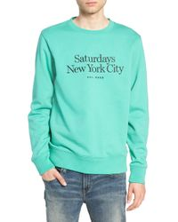 Saturdays NYC - Bowery Embroidered Fleece Sweatshirt - Lyst