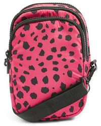 TOPSHOP - Leopard Print Nylon Shoulder Bag - - Lyst