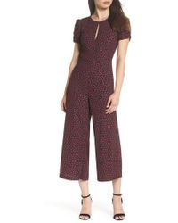 771f9e2b41b Lyst - Adelyn Rae Lace Inset Jumpsuit in Blue