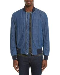 PS by Paul Smith - Quilted Bomber Jacket - Lyst