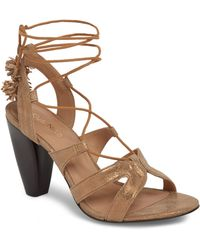 a54ea299aa8a Lyst - Gianvito Rossi Maxine Cut-out Suede Sandals in Gray