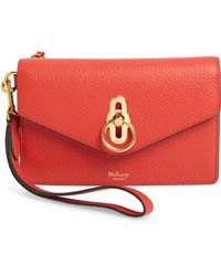 Mulberry - Amberley Iphone Leather Clutch - Lyst