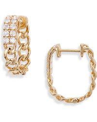 Bony Levy Katharine Diamond Huggie Hoop Earrings (nordstrom Exclusive) - Metallic