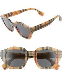 3da7f16a6039 Lyst - Burberry 58mm Check Detail Sunglasses - Bordeaux in Purple