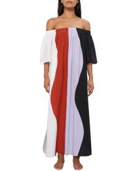Mara Hoffman - Sala Colorblock Off The Shoulder Cover-up Maxi Dress - Lyst