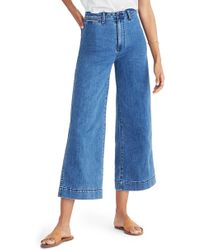 Madewell - Emmett Crop Wide Leg Jeans - Lyst