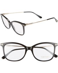 858c3bffea50 Tom Ford - 52mm Round Optical Glasses - Shiny Black Acetate - Lyst