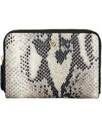 Kelly Wynne Money Maker Leather Zip Wallet - Black
