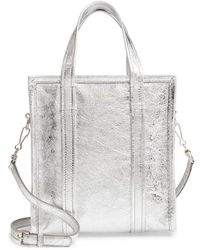 Balenciaga - Extra Small Bazar Metallic Lambskin Leather Shopper - Metallic - Lyst