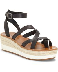 Lucky Brand Jenepper Wedge Sandals - Black