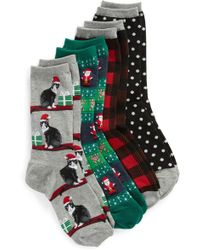 Hot Sox - 4-pack Holiday Cats Socks - Lyst