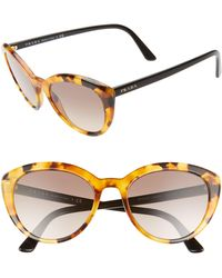 Prada - 54mm Cat Eye Sunglasses - Lyst