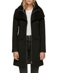 SOIA & KYO Flavie Double Collar Coat - Black