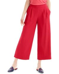 J.Crew | J.crew Wide Leg Cropped Trousers | Lyst