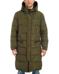 Vince Camuto Long Insulated Warm Winter Coat Parka - Green