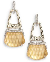 Alexis Bittar | Lucite Crystal Accent Drop Earrings | Lyst