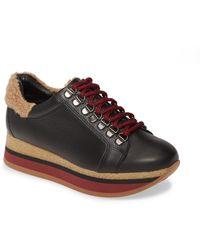 Cordani Jolene Faux Fur Detail Sneaker - Black