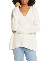 Nordstrom V-neck Cashmere Sweater - White