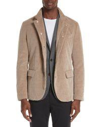 Eleventy - Trim Fit Cotton & Cashmere Corduroy Sport Coat - Lyst