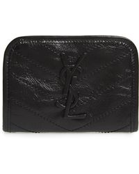 Saint Laurent - Niki Quilted Leather Wallet - Lyst